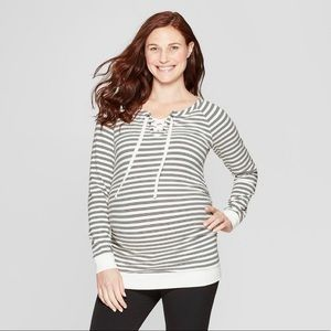 Maternity stripped soft lightweight sweater